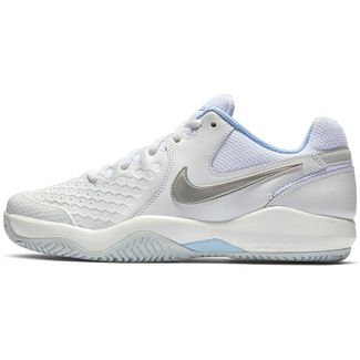Nike AIR ZOOM RESISTANCE Tennisschuhe Damen white-metallic silver-pure platinum