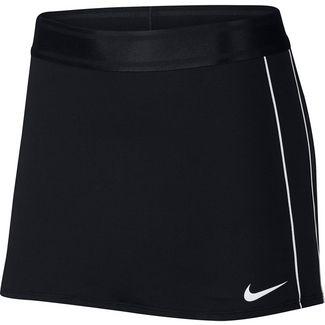 Nike W NKCT DRY SKIRT STR Tennisrock Damen black-white-white-white