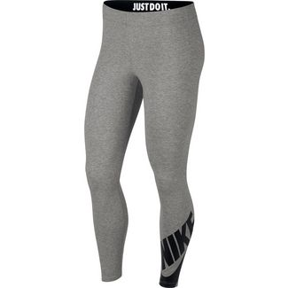 Nike NSW Legasee Leggings Damen dk grey heather-black
