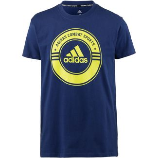 adidas T-Shirt blue-yellow