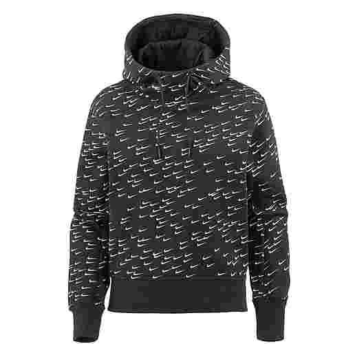 Nike NSW Swoosh Hoodie Damen black white im Online Shop von SportScheck kaufen