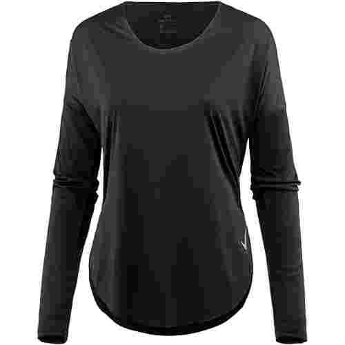 Nike City Sleek Laufshirt Damen black-reflective silv