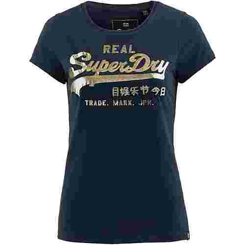 Superdry T-Shirt Damen eclipse navy