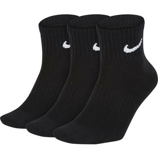 Nike ONE QARTERS Socken Pack black-white