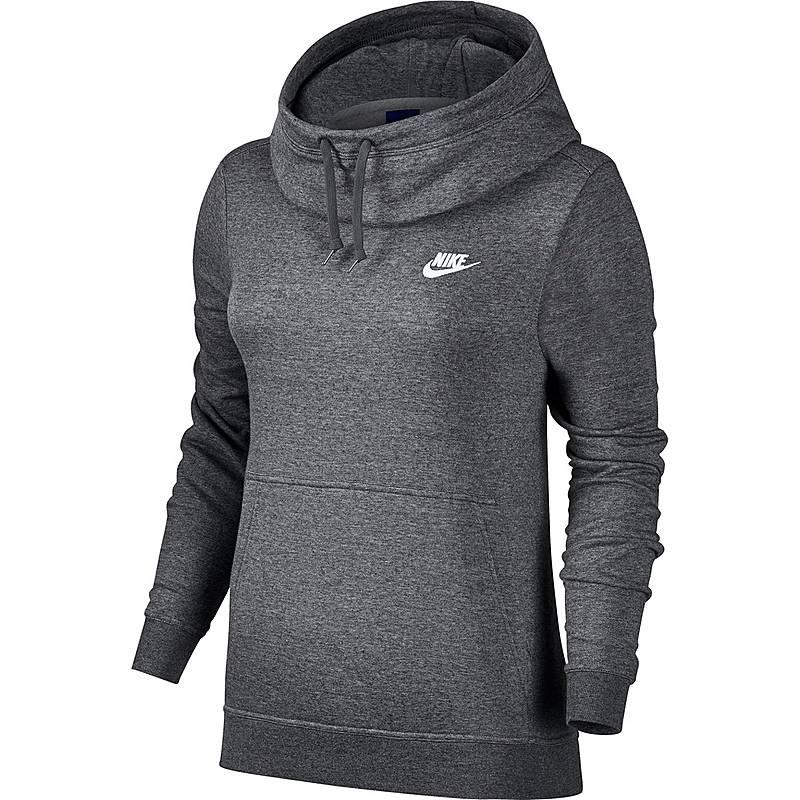 Nike Hoodie Damen Charcoal Heather Charcoal Heather Dark Grey Im