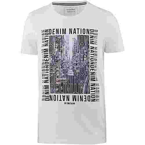 TOM TAILOR T-Shirt Herren white