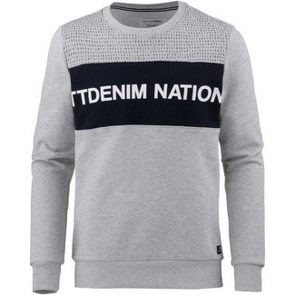 TOM TAILOR Sweatshirt Herren light stone grey melange