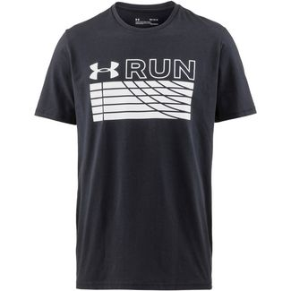 Under Armour TRACK Laufshirt Herren black-white-white