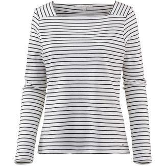TOM TAILOR Langarmshirt Damen white with black stripe