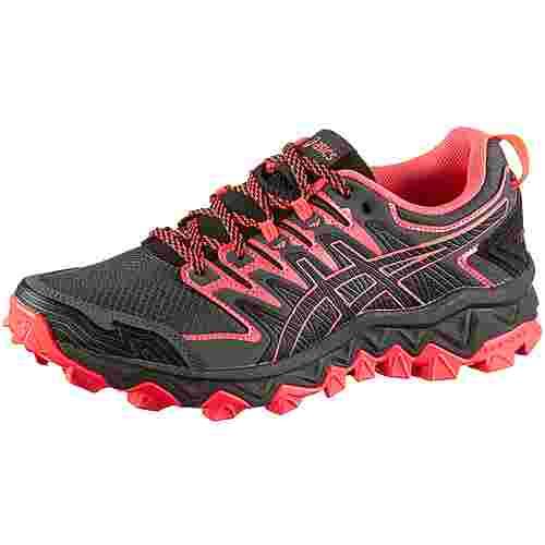 ASICS GEL-FUJITRABUCO 7 Trailrunning Schuhe Damen black-flash coral