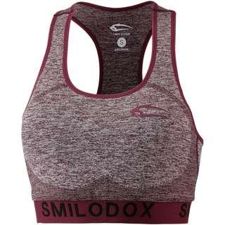 SMILODOX Seamless Cut BH Damen bordeaux