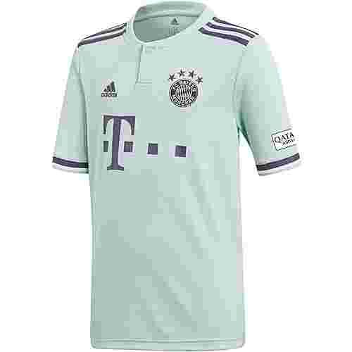 adidas FC Bayern 18/19 Auswärts Fußballtrikot Kinder ash green