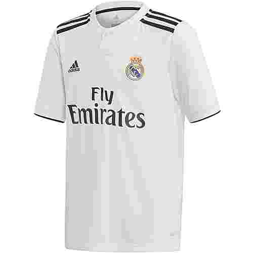 adidas Real Madrid 18/19 Heim Fußballtrikot Kinder core white
