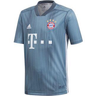 adidas FC Bayern 18/19 CL Fußballtrikot Kinder raw steel