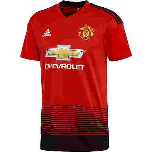 adidas Manchester United 18/19 Heim Fußballtrikot Herren real red