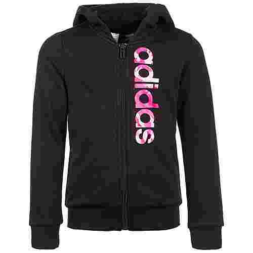 adidas Essentials Linear CP Trainingsjacke Kinder schwarz / rosa