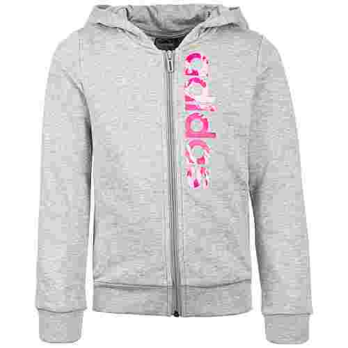 adidas Essentials Linear CP Trainingsjacke Kinder grau / rosa