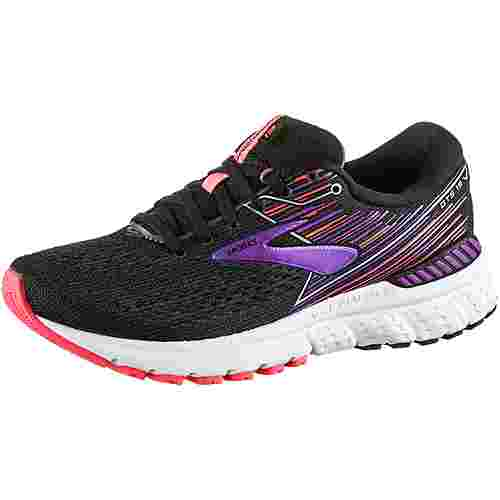 Brooks ADRENALINE GTS 19 Laufschuhe Damen black-purple-coral