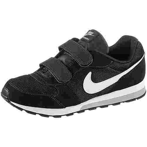 Nike MD Runner Sneaker Kinder black-white-wolf-grey