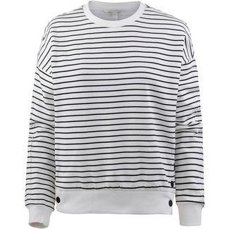 TOM TAILOR Sweatshirt Damen white with black stripe
