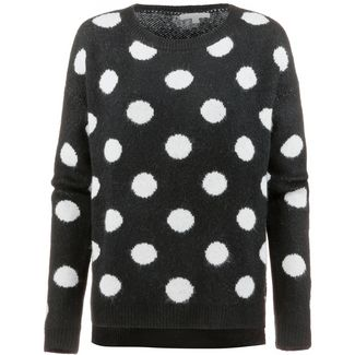 TOM TAILOR Strickpullover Damen big dots black offwhite