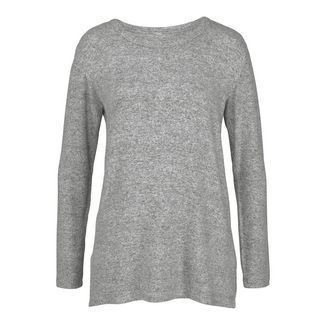 Lascana Sweatshirt Damen Grau meliert