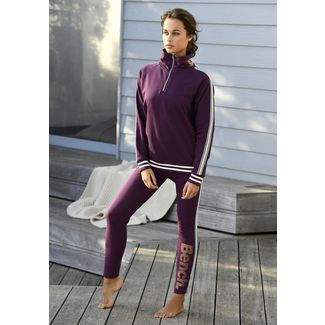 Bench Sweatshirt Damen Aubergine