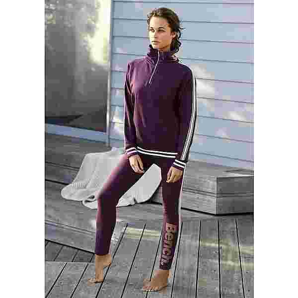 Bench Sweatshirt Damen aubergine