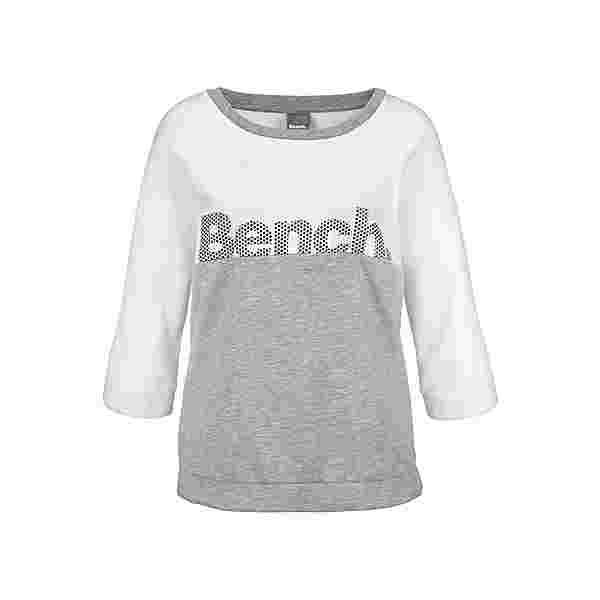Bench Sweatshirt Damen ecru-grau-meliert