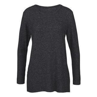 Lascana Sweatshirt Damen Anthrazit meliert