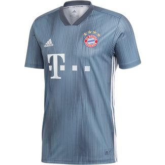 adidas FC Bayern 18/19 CL Fußballtrikot Herren raw steel