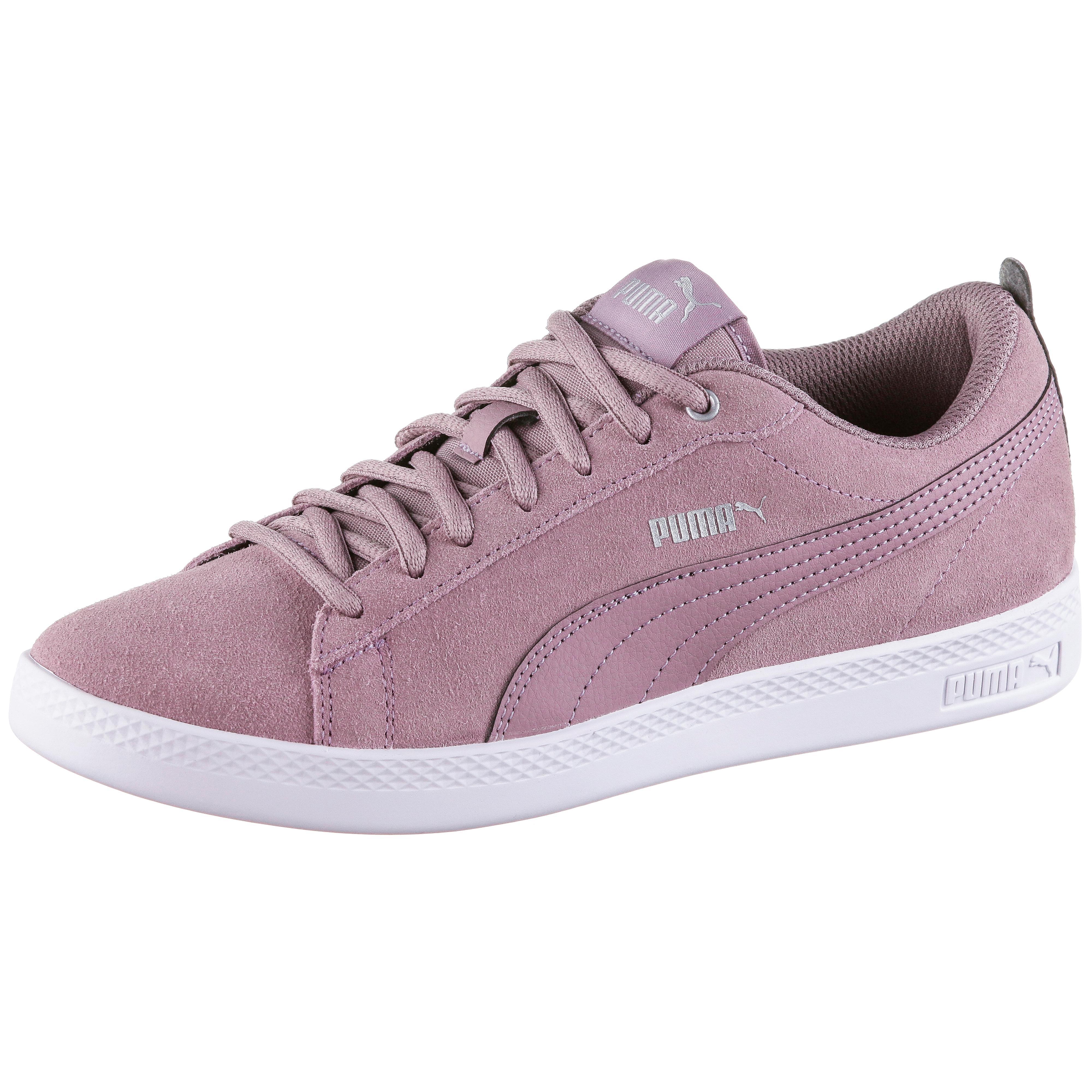 PUMA Smash V2 SD Sneaker Damen elderberry silver puma white