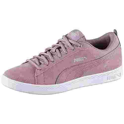 PUMA Smash V2 SD Sneaker Damen elderberry-silver-puma white