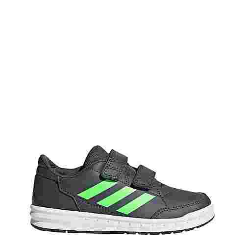 adidas AltaSport Schuh Hallenschuhe Kinder Grey Six / Shock Lime / Ftwr White