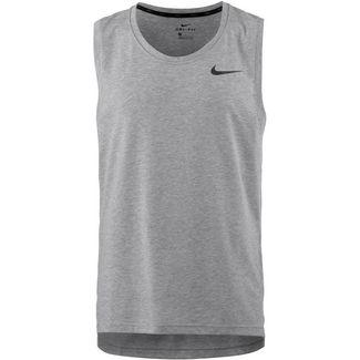 Nike Breathe Hyper Dry Funktionstank Herren dk grey heather-black