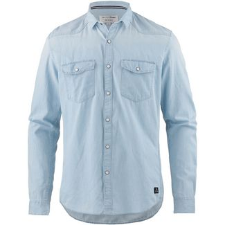 TOM TAILOR Langarmhemd Herren bleached blue denim