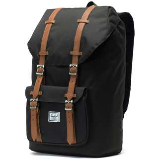 Herschel Rucksack Little America Daypack black-tan synthetic leather