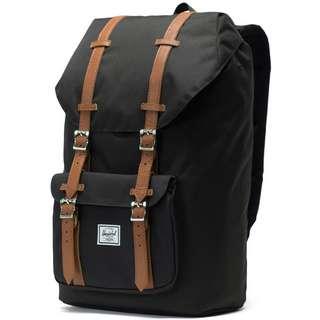 Herschel Rucksack Little America Daypack black-tan synthetic leather