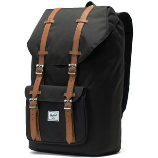 cfbcf767a8bfe Herschel Rucksack Little America Daypack black-tan synthetic leather