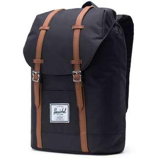 Herschel Rucksack Retreat Daypack black-tan synthetic leather