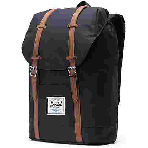Herschel Rucksack Retreat Daypack black-tan synthetic leather