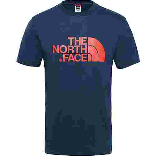 The North Face Easy Printshirt Herren urban navy-fiery red