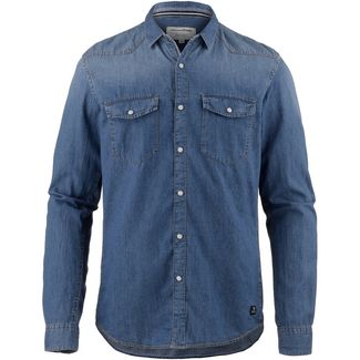 TOM TAILOR Langarmhemd Herren stone blue denim