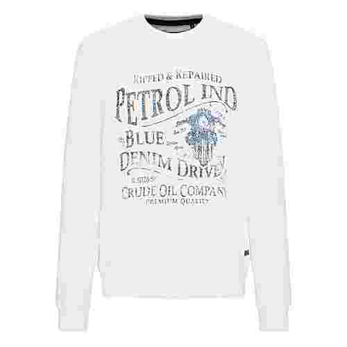 Petrol Industries Sweatshirt Herren Antique White