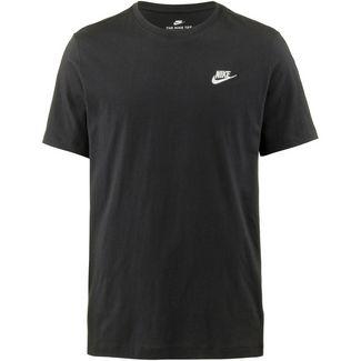 Nike NSW Club T-Shirt Herren black-white-university red
