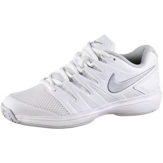 Nike W AIR ZOOM PRESTIGE HC Tennisschuhe Damen white-metallic silver-pure platinum