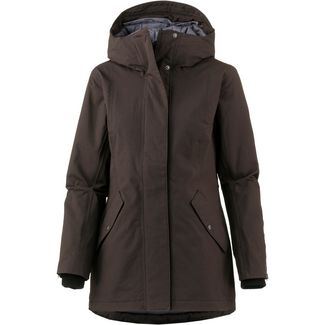 Didriksons 1913 Marie Kapuzenjacke Damen chocolate brown