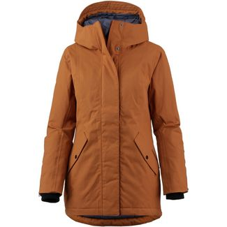 Didriksons 1913 Marie Kapuzenjacke Damen leather brown