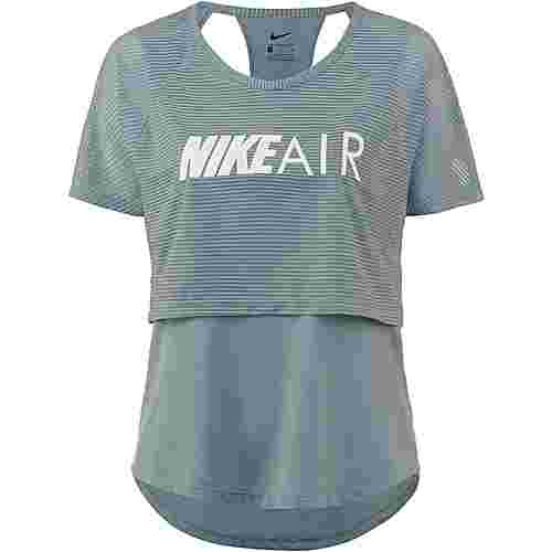 Nike Air Laufshirt Damen aviator grey-white