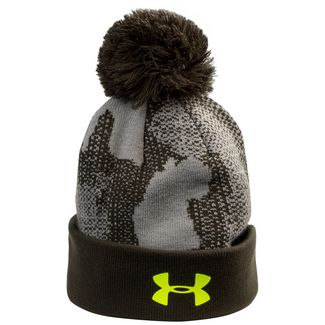 Under Armour Pom Beanie Kinder grün